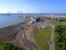 Aerial image Pennsville Power Plant Stock Images