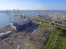 Aerial image Pennsville Power Plant Stock Image