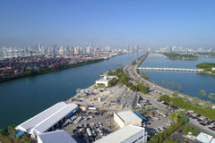 Aerial image of Port Miami Stock Image