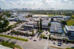 Aerial image of the Rabbi Alexander Gross Hebrew Academy Miami B Stock Photos
