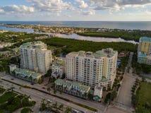 Residential condominium Boynton Beach FL. Aerial image of a residential condominium in Boynton Beach FL Royalty Free Stock Photography