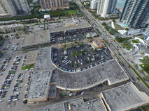 Aerial image shopping center Stock Photos