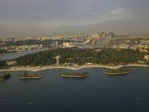 Aerial Image of Siloso Beach, at Sentosa Island Singapore royalty free stock image