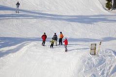 Aerial image of Mt. Washington alpine ski resort, Vancouver Island, BC, Canada royalty free stock photos