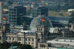 Aerial image skyline Berlin Stock Photography