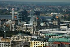 Aerial image skyline Berlin Stock Photo