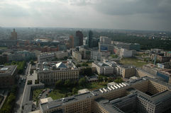 Aerial image skyline Berlin Stock Photo