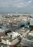 Aerial image skyline Berlin Royalty Free Stock Photo