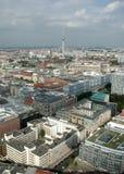 Aerial image skyline Berlin Royalty Free Stock Photo