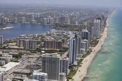 Aerial image Sunny Isles Beach FL Royalty Free Stock Photo