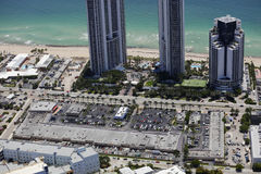 Aerial image Suny Isles Beach shopping centers Stock Photo