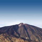 An aerial image of Teide volcano, Tenerife, Spain Royalty Free Stock Images
