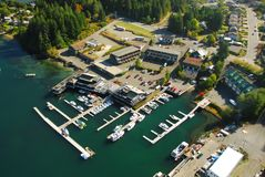 Aerial image of Tofino, BC, Canada. Aerial image of Tofino, Vancouver Island, BC, Canada royalty free stock photography