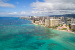 Aerial image Waikiki Beach Stock Photo
