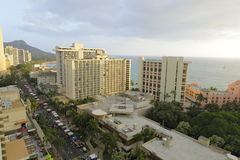 Aerial image Waikiki Beach Stock Images