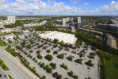 Aerial image Walmart Hallandale Royalty Free Stock Photos