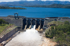 Wivenhoe Dam Releasing Water stock photography