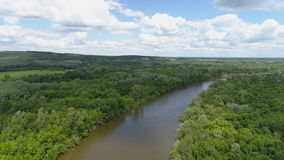 Aerial imagery of the nature of the central strip of Russia. Area above the mountains and trees. Aerial imagery of the nature of the central strip of Russia stock footage