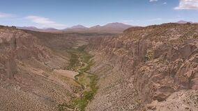 Aerial at Inca Canyon - Bolivia.