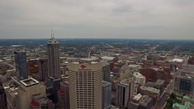 Aerial Indiana Indianapolis stock video