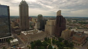Aerial Indiana Indianapolis stock video footage