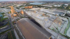Aerial industrial quarry Stock Photography
