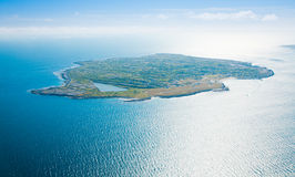 Aerial of Inisheer Island. Aerial landscape of Inisheer Island, part of Aran Islands, Ireland Stock Images