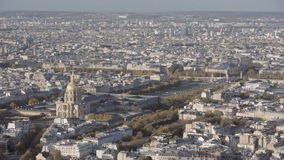 Aerial introduction shot of the the invalides and bridge Alexandre 3 in Paris. Footage from Paris with the Invalides and the famous bridge Alexandre iii stock video footage