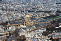 Aerial Invalides Royalty Free Stock Photography