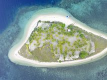 Private island in Indonesia stock images