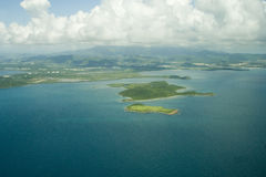 Aerial Islands 1. Aerial view of tropical islands Stock Photography