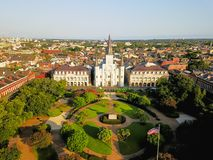 Free Aerial Jackson Square Saint Louis Cathedral Church In New Orleans, Louisiana Royalty Free Stock Photos - 108044888