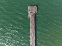 Aerial jetty photo stock photography