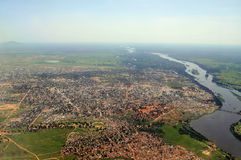 Aerial of Juba, capital of South Sudan Royalty Free Stock Images