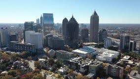 Aerial footage of Midtown Atlanta