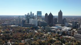 Aerial footage of Midtown Atlanta
