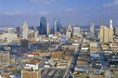 Aerial of Kansas City skyline, MO Stock Photo