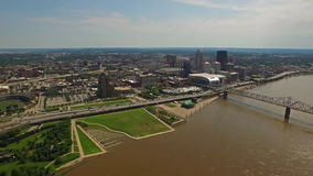 Aerial Kentucky Louisville stock video
