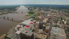 Aerial Kentucky Louisville stock video footage