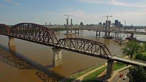 Aerial Kentucky Louisville stock footage