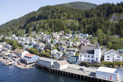 Aerial Ketchikan View Royalty Free Stock Photography