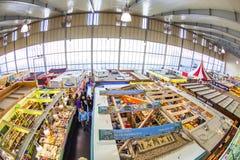 Aerial of the Kleinmarkthalle in Frankfurt am Main Royalty Free Stock Photos