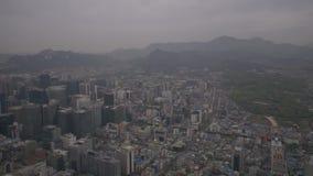 Aerial Korea Seoul April 2017 Seoul Tower Hazy Overcast Day