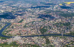 Aerial of Krakow Royalty Free Stock Images