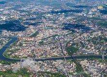 Aerial of Krakow Stock Photo
