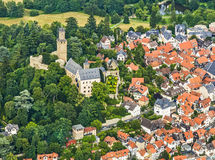 Aerial of Kronberg im Taunus with the Kronberg Castle Royalty Free Stock Photo