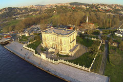 Aerial of Kucuksu in Istanbul, Turkey. High angle view on the pavilion built by Sultan Abdulmecit, 19th century Stock Photo