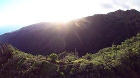 Aerial of Kuliouou Ridge Hiking Trail stock video footage
