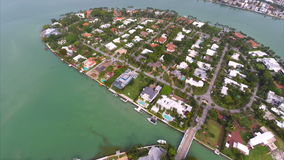 Aerial La Gorce neighborhoods Miami stock footage