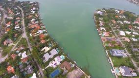 Aerial La Gorce neighborhoods Miami